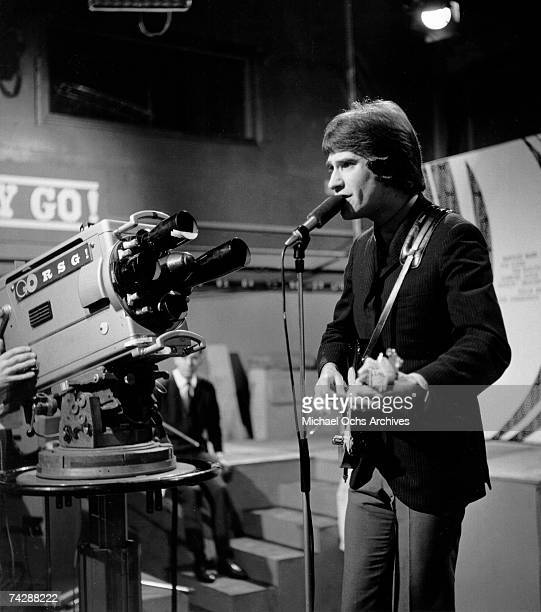 Singer and guitarist Ray Davies of the rock group The Kinks performs on the Ready Steady Go Television show June 24 1966 in London England