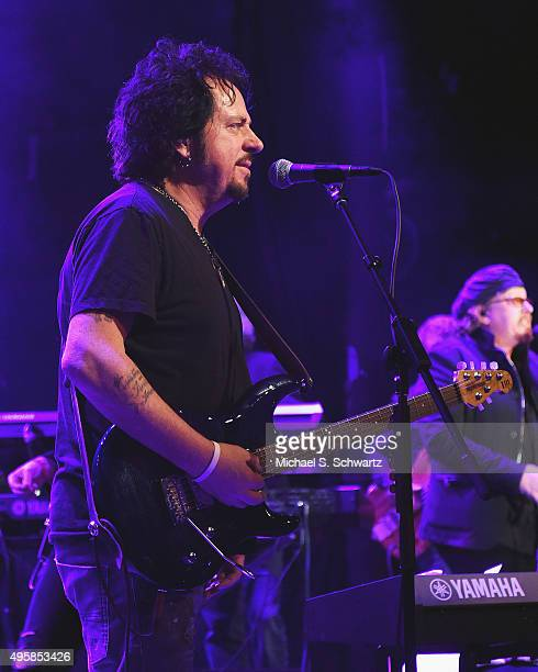Singer and guitarist Steve Lukather of Toto performs during his appearance at the weSpark Cancer Support Center Benefit Concert 'An Evening with...