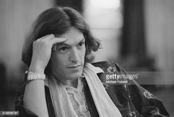 Singer and guitarist Steve Winwood of English rock group Traffic April 1974