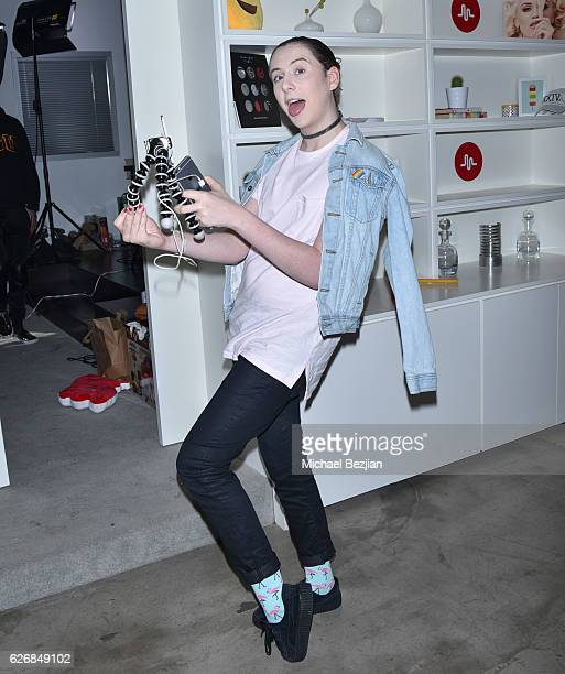 Singer and internet personality Trevor Moran at Musically And What's Trending Host To Benefit The Pablove Foundation at Musically HQ on November 30...