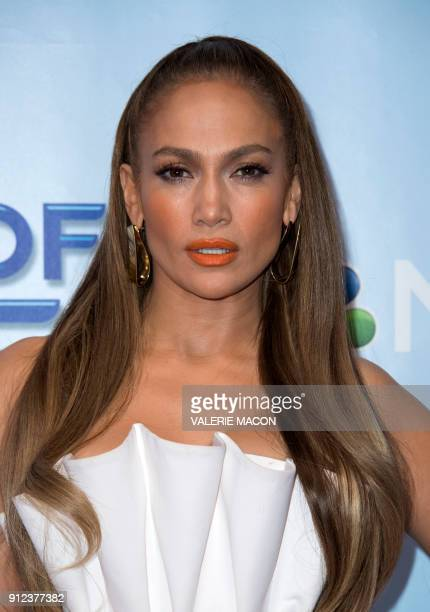 Singer and judge Jennifer Lopez attends the NBC Universal World of Dance Red Carpet event on January 30 in Universal City California / AFP PHOTO /...