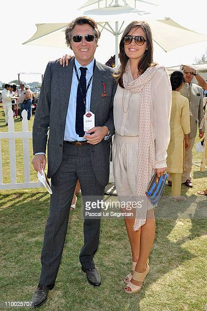 Singer and jury member Brian Ferry and partner Amanda Sheppard pose during the Cartier 'Travel With Style' Concours on March 12 2011 in New Delhi...
