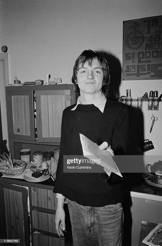 Singer and lyricist Mark E Smith of The Fall, at home, Manchester, 21st December 1977.