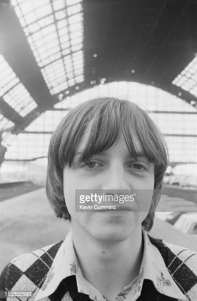 Singer and lyricist Mark E Smith of The Fall at Manchester Central railway station 1978 At the time the station was used as a car park It was later...