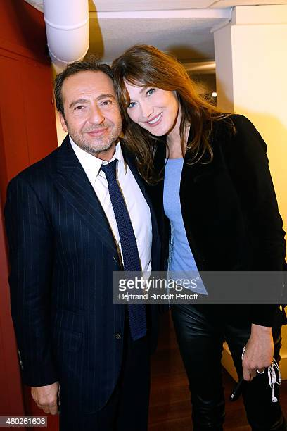 Singer and main guest of the show Carla Bruni presents the DVD 'Carla Bruni a l'Olympia' and Humorist Patrick Timsit presents his show 'On ne peut...
