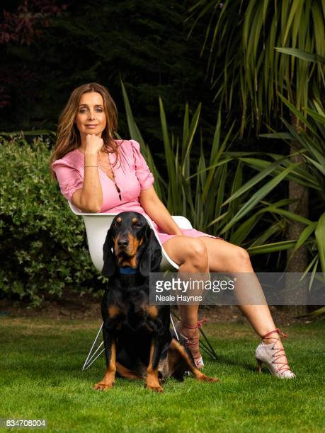 Singer and media personality Louise Redknapp is photographed with her pet dog Corky a stray rescued in Cyprus for the Daily Mail on April 21 2017 in...