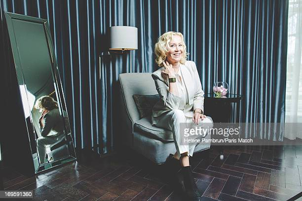 Singer and member of legendary group Abba Agnetha Faltskog is photographed for Paris Match on April 29 2013 in London England
