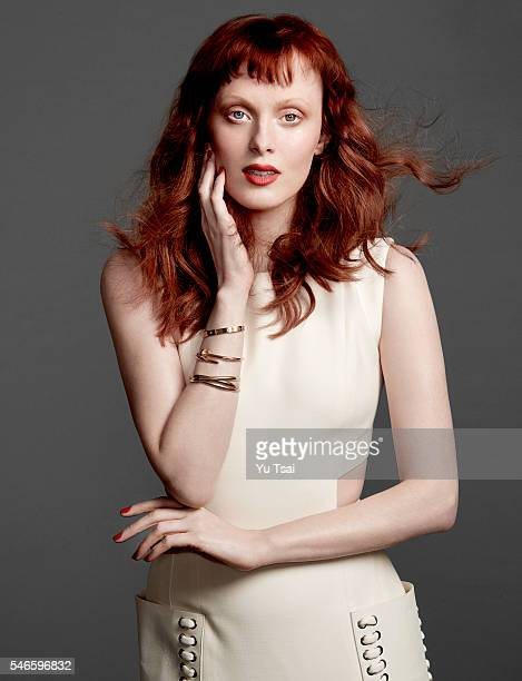 Singer and model Karen Elson is photographed for Harper's Bazaar Singapore on January 20 2016 in Los Angeles California