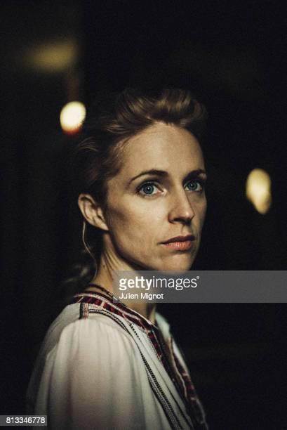 Singer and musician Agnes Obel is photographed for ELLE France Magazine on September 8 2016 in Paris France