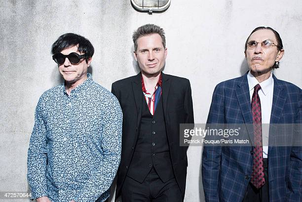 Singer and musician Alex Kapranos is photographed with rock band the Sparks for Paris Match on April 21 2015 in Paris France