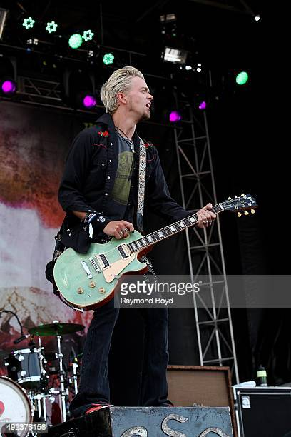 Singer and musician Ben Wells from Black Stone Cherry performs during the 'Louder Than Life' festival at Champions Park on October 4 2015 in...