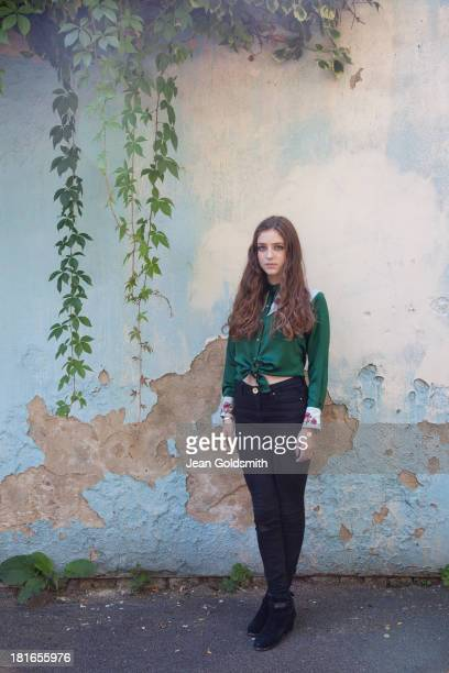 Singer and musician Birdy is photographed for the Independent on August 18 2013 in London England