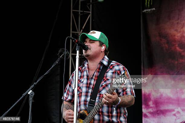 Singer and musician Chris Robertson from Black Stone Cherry performs during the 'Louder Than Life' festival at Champions Park on October 4 2015 in...