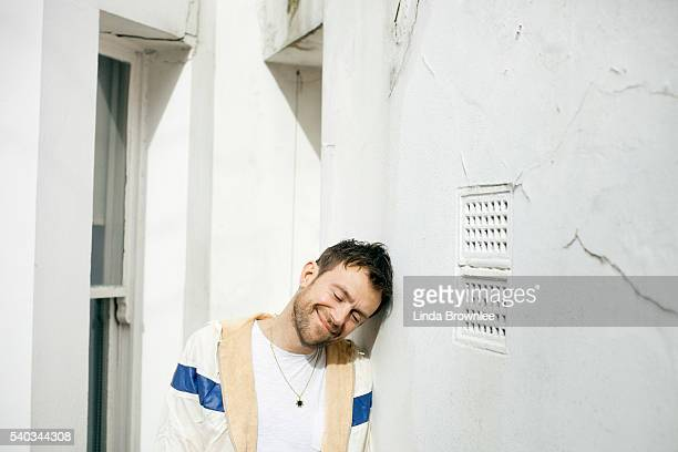Singer and musician Damon Albarn is photographed for the Observer on March 5 2014 in London England