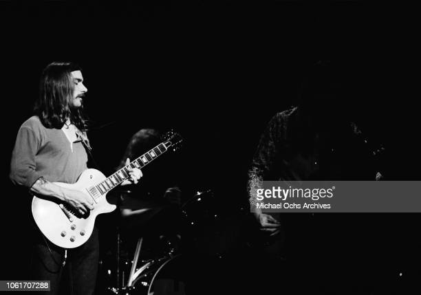 Singer and musician Dickey Betts of American rock group The Allman Brothers Band performs at the last night at Fillmore East a nightclub on Second...