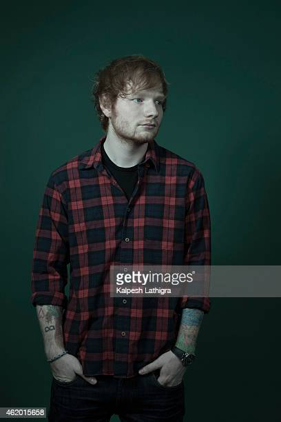Singer and musician Ed Sheeran is photographed for the Financial Times on October 30 2014 in London England