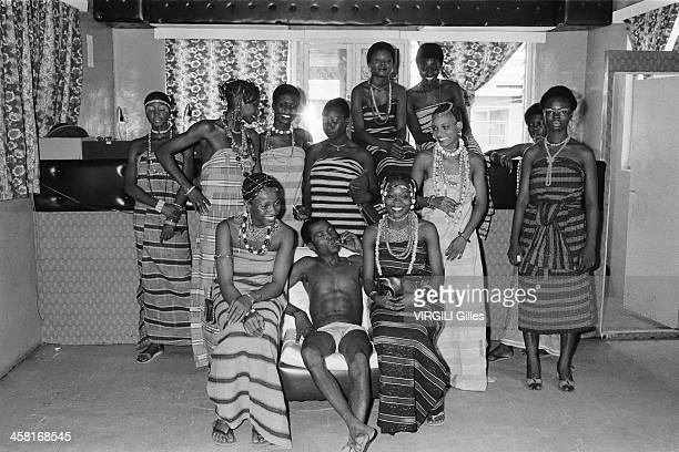 Singer and musician Fela the king poses on march 1978 in Nigeria