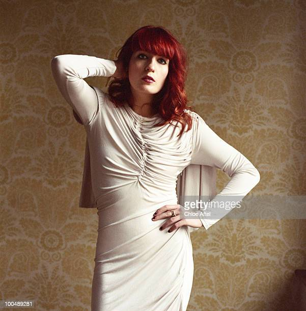 Singer and musician Florence Welch of music collective Florence and the Machine poses for a portrait session for Theme Magazine