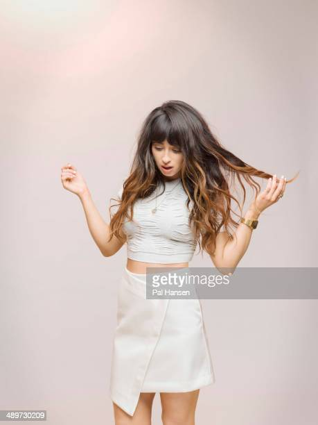 Singer and musician Foxes aka Louisa Rose Allen is photographed for Independent on February 11, 2014 in London, England.