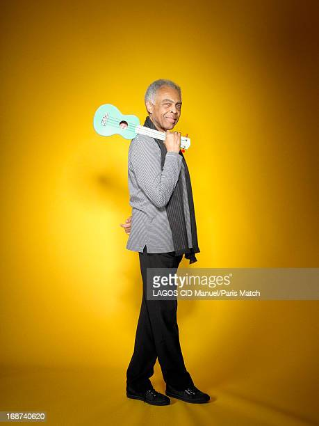 Singer and musician Gilberto gil is photographed for Paris Match on April 24 2012 in Paris France