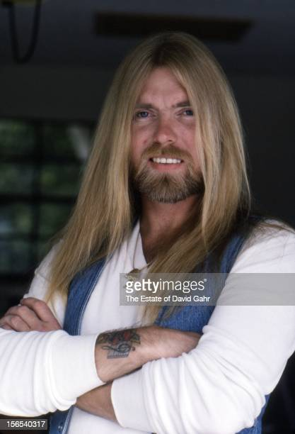 Singer and musician Gregg Allman of the rock and blues group The Allman Brothers poses for a portrait in March 1982 in Sarasota Florida