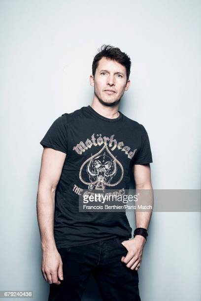 Singer and musician James Blunt is photographed for Paris Match on March 23 2017 in Paris France