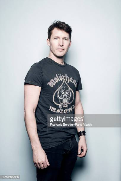 Singer and musician James Blunt is photographed for Paris Match on March 23, 2017 in Paris, France.