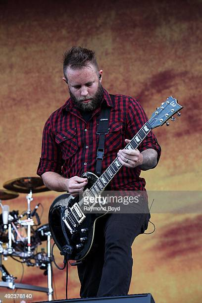 Singer and musician Jasen Rauch from Breaking Benjamin performs during the 'Louder Than Life' festival at Champions Park on October 4 2015 in...