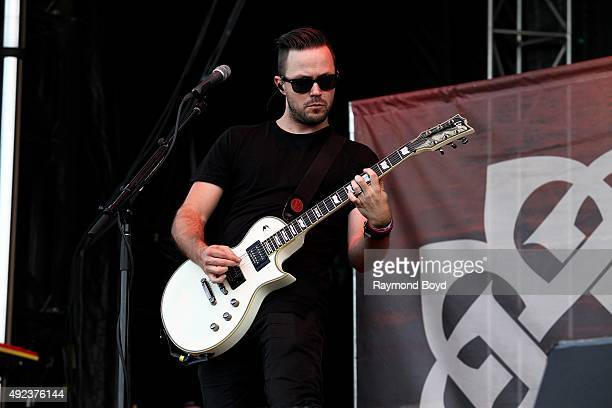 Singer and musician Keith Wallen from Breaking Benjamin performs during the 'Louder Than Life' festival at Champions Park on October 4 2015 in...