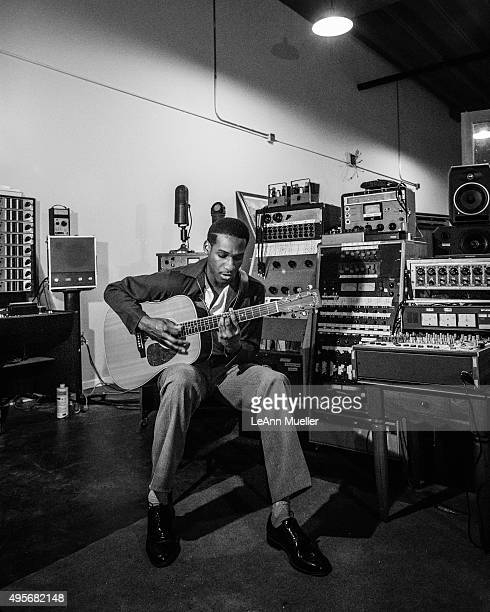 Singer and musician Leon Bridges is photographed for Texas Monthly Magazine on February 11, 2015 in Fort Worth, Texas.