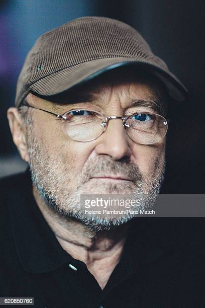 Singer and musician Phil Collins is photographed for Paris Match on October 17 2016 in Paris France