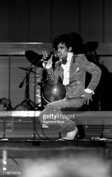 Singer and musician Prince performs at the Auditorium Theatre in Chicago, Illinois in January 1983.