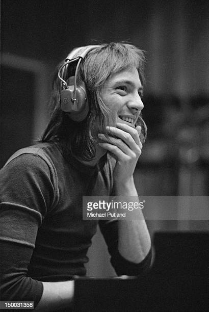 Singer and musician Steve Marriott recording the album 'Smokin'' with English rock group Humble Pie at Olympic Studios Barnes London 20th January 1972