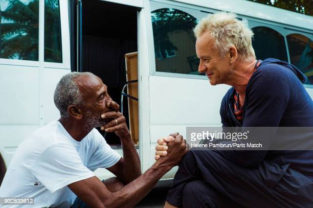 Singer and musician Sting during the filming of a music video Don't Make me Wait is photographed for Paris Match on January 7 2018 in Kingston Jamaica