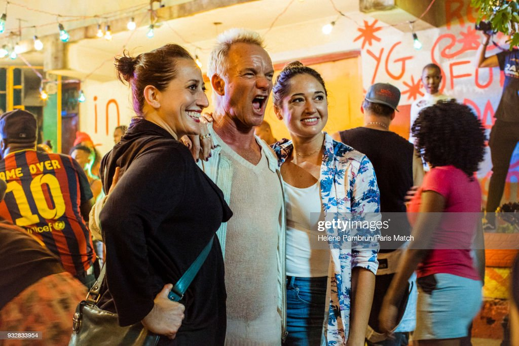Singer and musician Sting during the filming of a music video Don't Make me Wait is photographed for Paris Match on January 7, 2018 in Kingston, Jamaica.