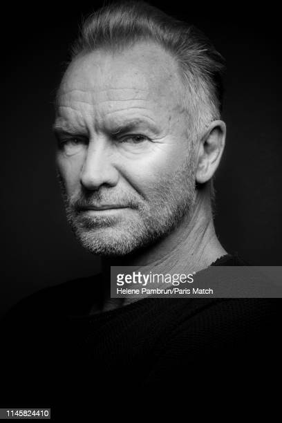 Singer and musician Sting is photographed for Paris Match in Paris on Aprl 11, 2019 in Paris, France.