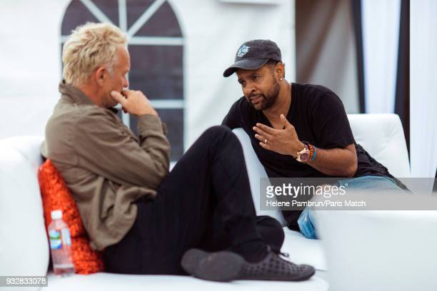 Singer and musician Sting with singer and Dj Shaggy are photographed for Paris Match on January 6 2018 in Kingston Jamaica