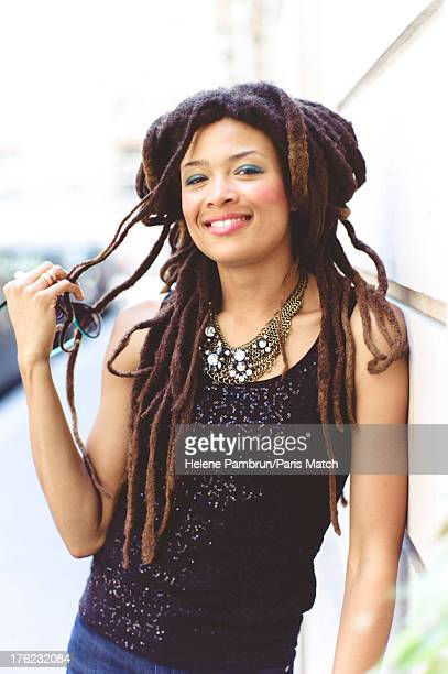 Singer and musician Valerie June is photographed for Paris Match on July 9 2013 in Paris France