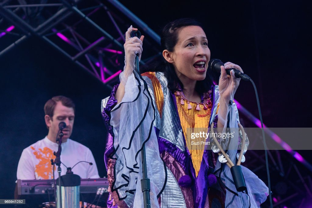 Singer and musician Yukimi Nagano of Little Dragon performs at the Upstream Music Festival in Pioneer Square on June 1, 2018 in Seattle, Washington.