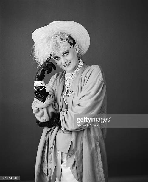 Singer and percussionist Alannah Currie of British pop group Thompson Twins London October 1984