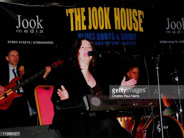 Singer and pianist Linda Gail Lewis performs live at The Jook House on April 17 2011 in Worthing West Sussex England