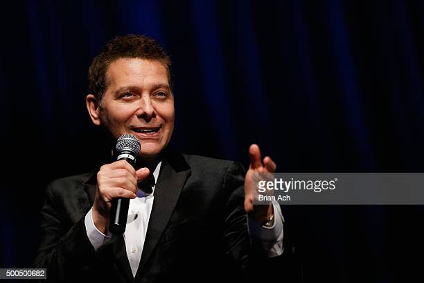 Singer and pianist Michael Feinstein performs at the Sinatra 100 Holiday Spectacular hosted By Tom Postilio & Mickey Conlon at The Edison Ballroom on...