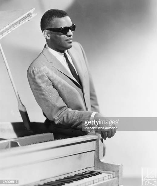 Singer and pianist Ray Charles poses for a portrait in 1962 in New York City New York