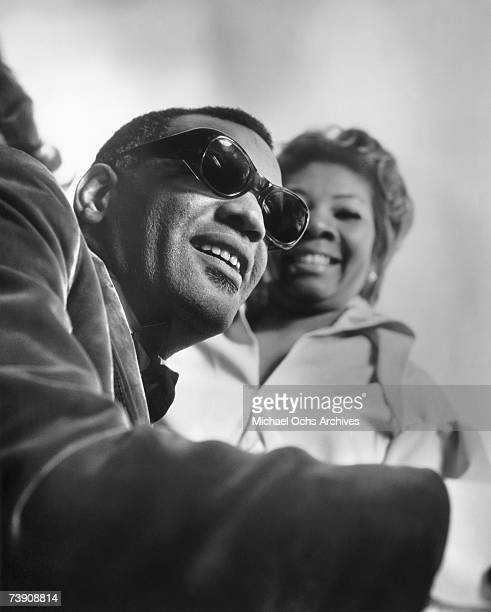 Singer and pianist Ray Charles poses for a portrait with singer Mabel John in circa 1968 in Los Angeles California
