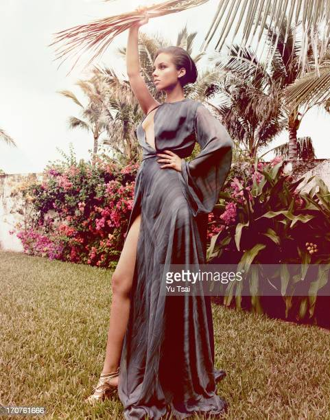 Singer and producer Alicia Keys is photographed for Marie Claire UK on April 22 2013 in Nassau Bahamas PUBLISHED IMAGE