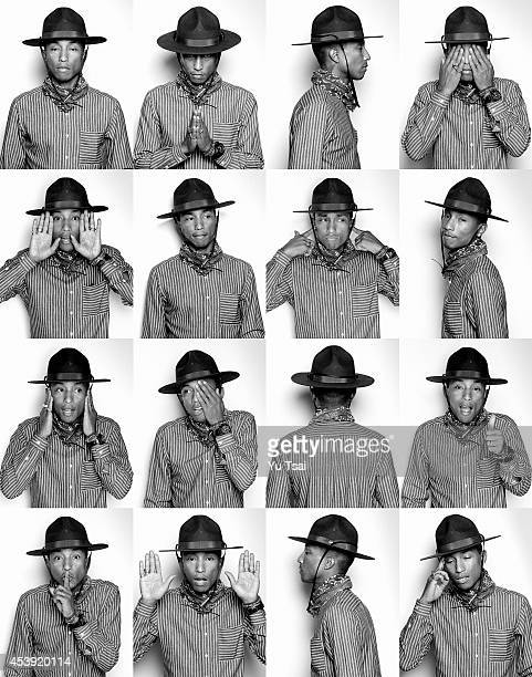 Singer and producer Pharrell Williams for Notion on January 29 2014 in Los Angeles California