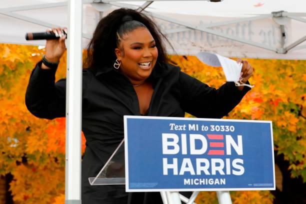 MI: Lizzo Campaigns For Democratic Presidential Candidates Joe Biden And Kamala Harris