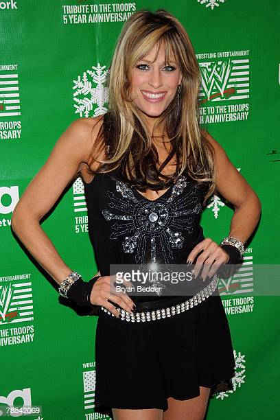 Singer and ring announcer Lilian Garcia attends the WWE and USA Network help US Marine Corp Toys for Tots Foundation event at the NBC Experience...