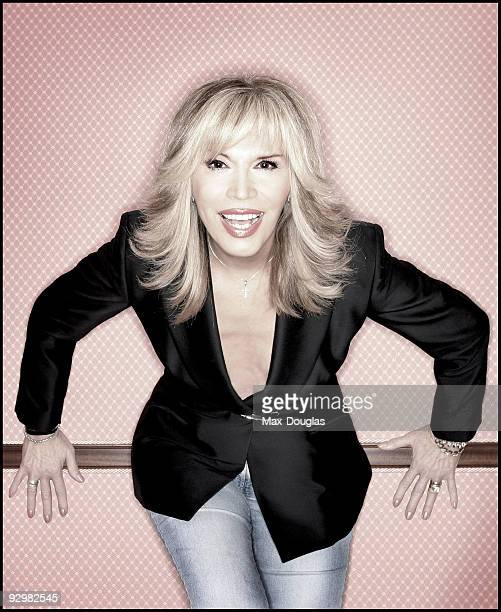 singer and showgirl Amanda Lear poses for a portrait shoot in Milan on December 02 2004