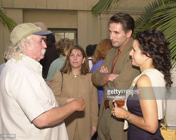 Singer and song writer David Crosby left his wife Jan Dance actor William Baldwin and actress Julia Louis Dreyfuss mingle at a reception held by The...